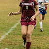 Fitchburg  High School girls soccer played West Boylston High School on Wednesday afternoon, Oct. 2, 2019 in Fitchburg. FHS's #9 Amber McCloskey. SENTINEL & ENTERPRISE/JOHN LOVE