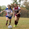 Fitchburg  High School girls soccer played West Boylston High School on Wednesday afternoon, Oct. 2, 2019 in Fitchburg. FHS's #3 Jordyn Butler and WBHS's #2 Celina Ricaurte. SENTINEL & ENTERPRISE/JOHN LOVE
