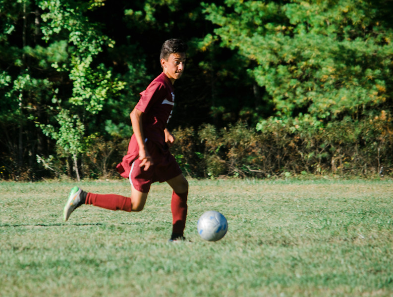 Fitchburg's Gabe Goncalves in action during the game against Sizer on Thursday afternoon. SENTINEL & ENTERPRISE / Ashley Green