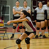 Fitchburg's Augustina Silvera during the match against Ayer-Shirley on Tuesday afternoon. SENTINEL & ENTERPRISE / Ashley Green