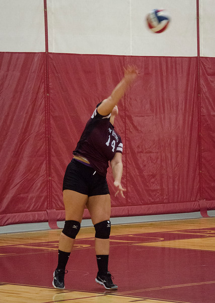 Ayer-Shirley's Taylor Wright during the match against Fitchburg High on Tuesday afternoon. SENTINEL & ENTERPRISE / Ashley Green