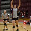 Fitchburg's Caitie Mayo during the match against Ayer-Shirley on Tuesday afternoon. SENTINEL & ENTERPRISE / Ashley Green
