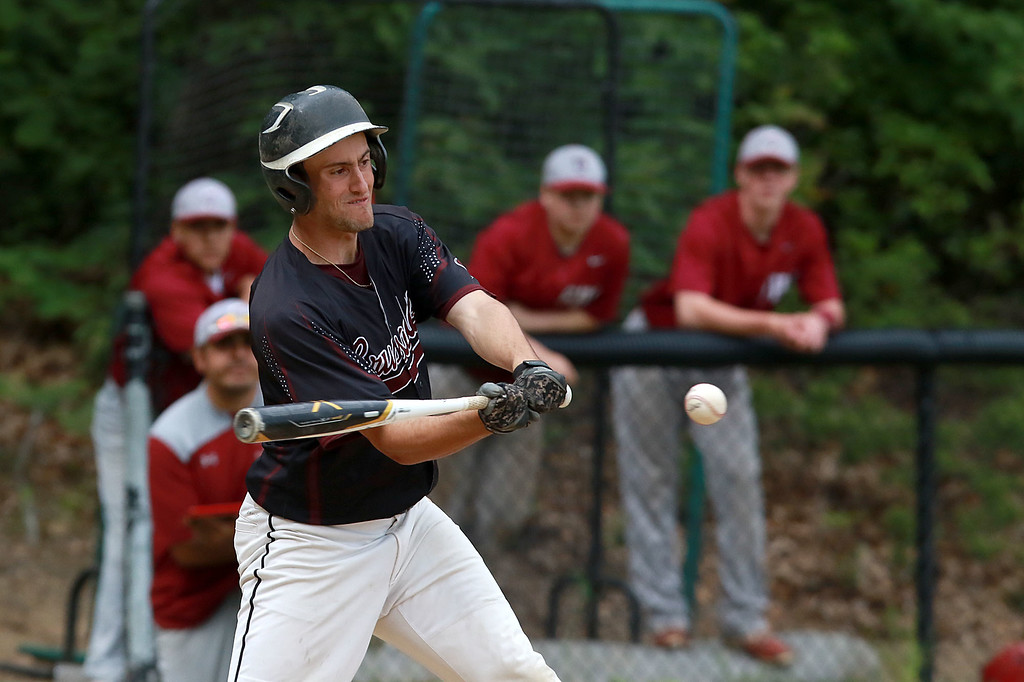 . Fitchburg High School played Groton Dunstable Regional High School on Thursday afternoon in the Central Mass. Division 1 first round. GDRHS player Jesse Dutile swings at a pitch. SENTINEL & ENTERPRISE/JOHN LOVE