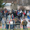 Leomimnster High School visited Crocker Field in Fitchburg to play Fitchburg High School for the 125th meeting of the two teams. Fans in the end zone. SENTINEL & ENTERPRISE/JOHN LOVE