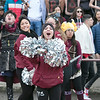 Leomimnster High School visited Crocker Field in Fitchburg to play Fitchburg High School for the 125th meeting of the two teams. FHS's cheerleader. SENTINEL & ENTERPRISE/JOHN LOVE