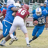 Leomimnster High School visited Crocker Field in Fitchburg to play Fitchburg High School for the 125th meeting of the two teams. LHS's Justtus-Tyler Reynolds runs with the ball. SENTINEL & ENTERPRISE/JOHN LOVE