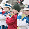 Leomimnster High School visited Crocker Field in Fitchburg to play Fitchburg High School for the 125th meeting of the two teams. Both Fitchburg and Leominster High School bands played the national anthem together to start the game. From right playing the flute is Leominster's Emily Sweeney and Fitchburg's Olivia Read. SENTINEL & ENTERPRISE/JOHN LOVE