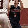 North Middlesex Regional High School boys basketball visited Fitchburg High School on Friday night, Jan. 3, 2020.NM's #2 Alban Badoci goes to put up a shot. SENTINEL & ENTERPRISE/JOHN LOVE