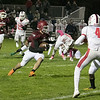 Fitchburg High School football played North Middlesex Regional High School on Friday night in Fitchburg. FHS's #7 Anthony Oquendo. SENTINEL & ENTERPRISE/JOHN LOVE