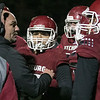 Fitchburg High School Played Nashoba Regional High School on Friday night in Fitchburg during the Central Mass. Division 4 semifinals. FHS's defensive coach Charlie Raff talks to his players during a timeout. SENTINEL & ENTERPRISE/JOHN LOVE