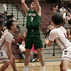 Fitchburg High School boys basketball played Nashoba Regional High School on Tuesday, Jan. 14, 2020. NRHS's #11 Mitch Scanlon. SENTINEL & ETERPRISE/JOHN LOVE