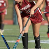 Nashoba Regional High School field hockey played Fitchburg High School Wednesday, September 26, 2018. FHS's Ariana Deleon takes the ball up field. SENTINEL & ENTERPRISE/JOHN LOVE