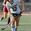 Nashoba Regional High School field hockey played Fitchburg High School Wednesday, September 26, 2018. NRHS's Amy Spratt chases down the ball. SENTINEL & ENTERPRISE/JOHN LOVE