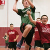 Fitchburg High School Unified Basketball hosted Oakmont Regional High School on Wednesday, Oct. 30, 2019. ORHS's Marty Steucer takes a shot while FHS's Russel Ambrose tries to stop him. SENTINEL & ENTERPRISE/JOHN LOVE