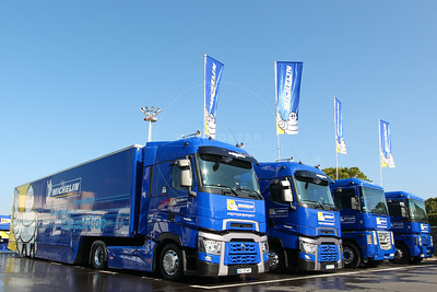 Michelin trucks during the Thursday set up for the  FIA WEC Prologue held at  Circuit Paul Ricard, Le Castellet, France from the 24th-26th of March 2016