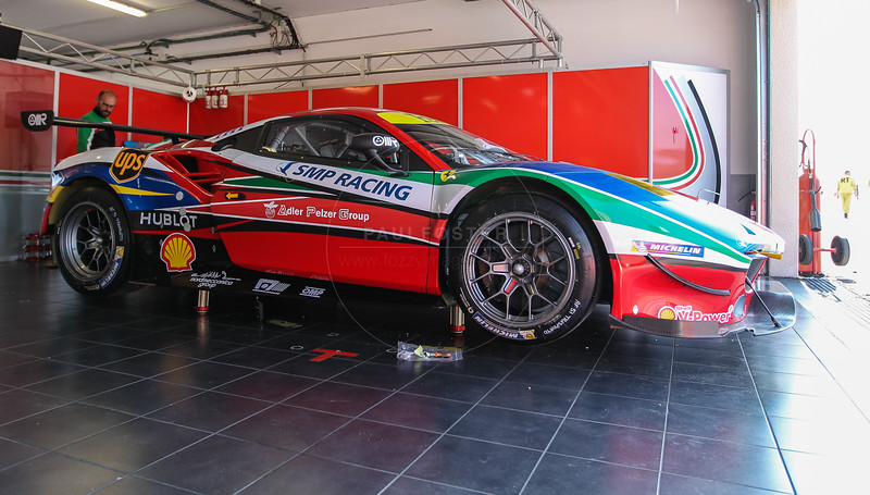 AF Corse Ferrari F488 GTE #71 driven by Davide Rigon / Sam Bird during the Thursday set up for the  FIA WEC Prologue held at  Circuit Paul Ricard, Le Castellet, France from the 24th-26th of March 2016