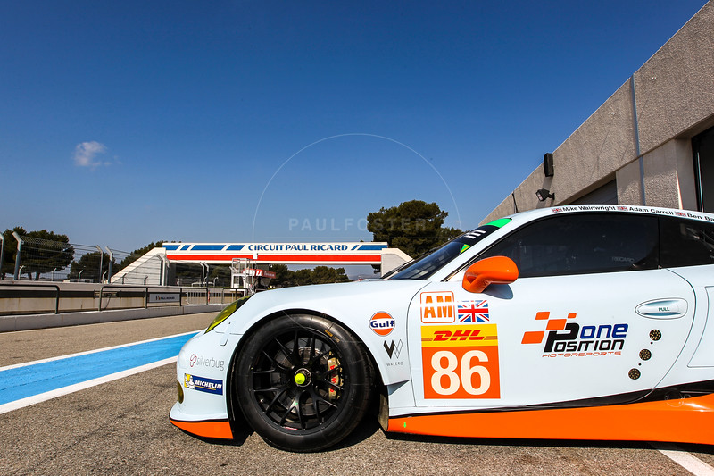 Gulf Racing UK  Porsche 911 RSR driven by  Michael Wainwright / Adam Carroll / Philip Keen during the Thursday set up for the  FIA WEC Prologue held at  Circuit Paul Ricard, Le Castellet, France from the 24th-26th of March 2016