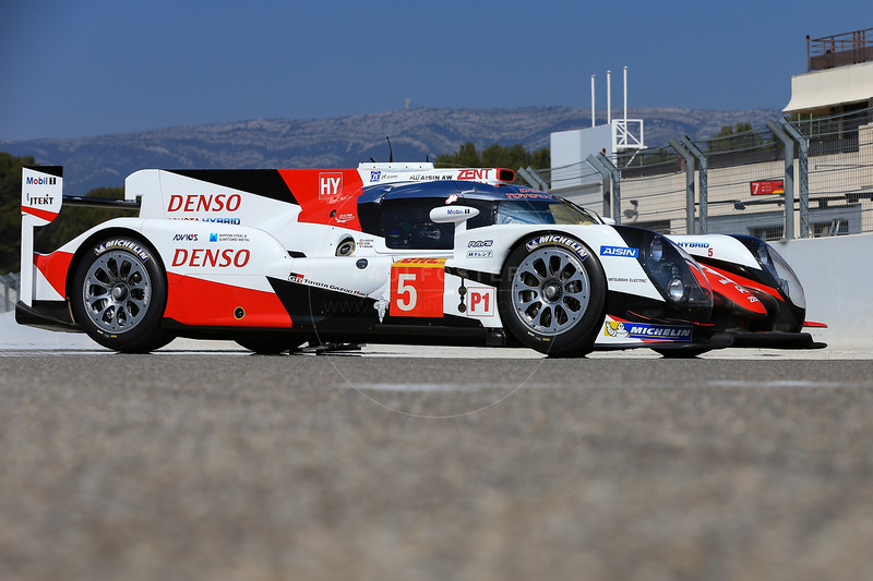 Toyota Gazoo Racing Toyota TS050 Hybrid #5 driven by Anthony Davidson / Sebastien Buemi / Kazuki Nakajima during the Thursday set up for the  FIA WEC Prologue held at  Circuit Paul Ricard, Le Castellet, France from the 24th-26th of March 2016