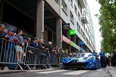 #89 RISI COMPETIZIONE FERRARI 488 GTE EVO: Pipo DERANI, Oliver JARVIS, Jules GOUNON, Le Mans 24 Hours Public Scrutineering, Place de la République, Le Mans, France