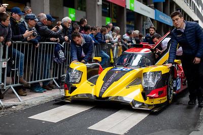 #20 HIGH CLASS RACING ORECA 07 - GIBSON: Anders FJORDBACH, Dennis ANDERSEN, Mathias BECHE, Le Mans 24 Hours Public Scrutineering, Place de la République, Le Mans, France