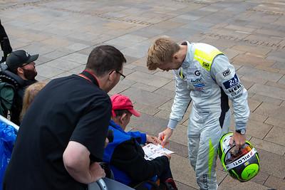 #4 ByKolles Racing Team Enso CLM P1/01: Oliver Webb,  Le Mans 24 Hours Public Scrutineering, Place de la République, Le Mans, France