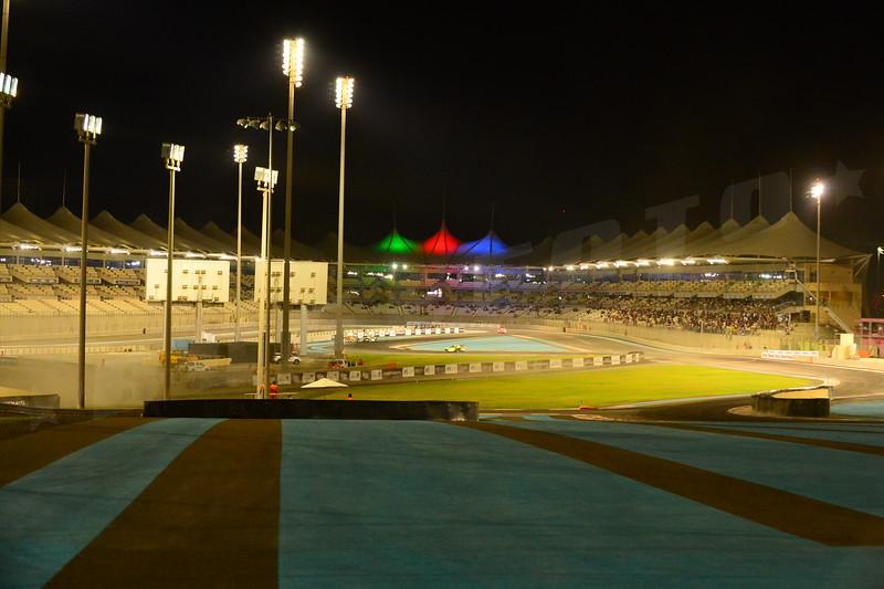 Abu Dhabi Race track by night
