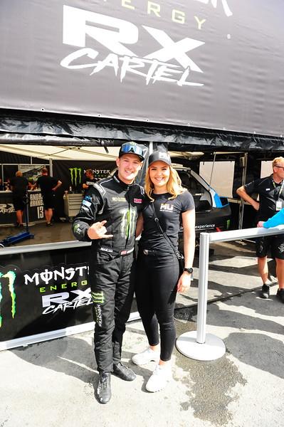 Super car driver  Andreas with Topp Fuel driver Maja Udtian
