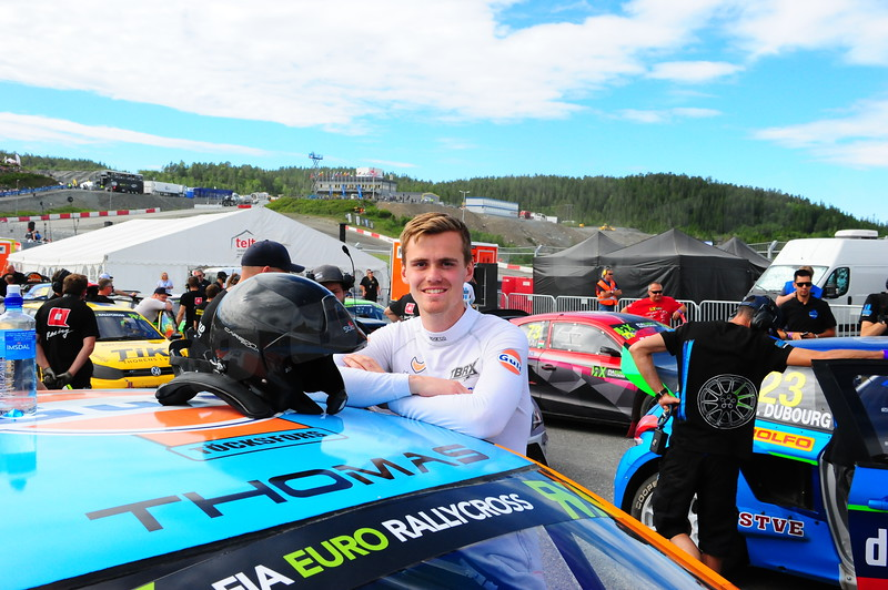 Thomas Brynteson at the start grid