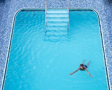 Blue Bather