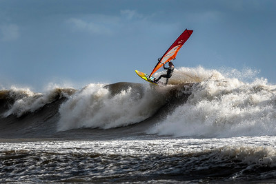 Big wave windsurfing