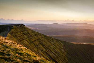 Evening View of Corn Du Brecon Beacons