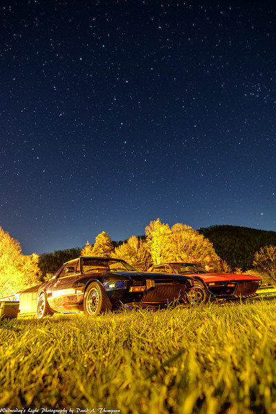 Fiat X1/9 Night Shot