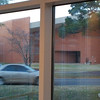 View of the TU Chapel from the inside of the Kellogg Center
