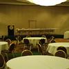 Kellogg Ballroom setup for banquet style event