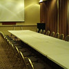 Small meeting room in the Kellogg Center that can be configured for press-junket interview sessions