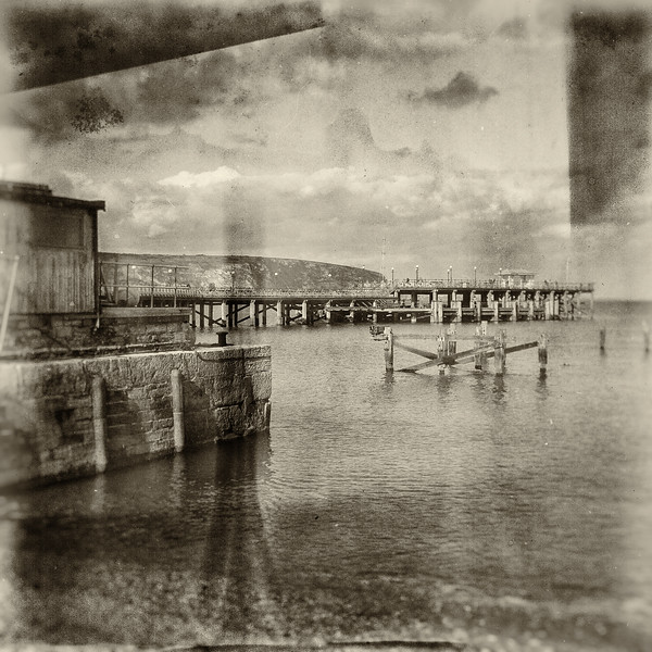 old & new pier, swanage, dorset