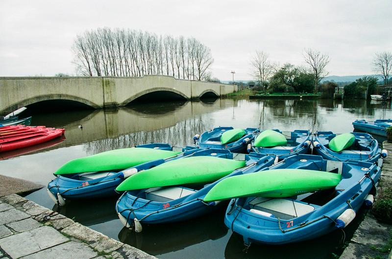 town bridge & river frome, wareham, dorset