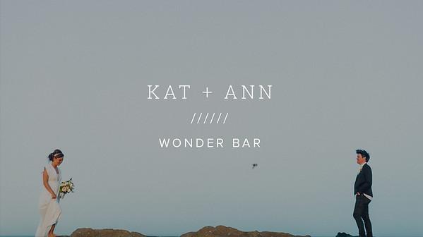 KAT + ANN ////// WONDER BAR