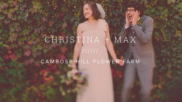 CHRISTINA + MAX ////// CAMROSE HILL FLOWER FARM