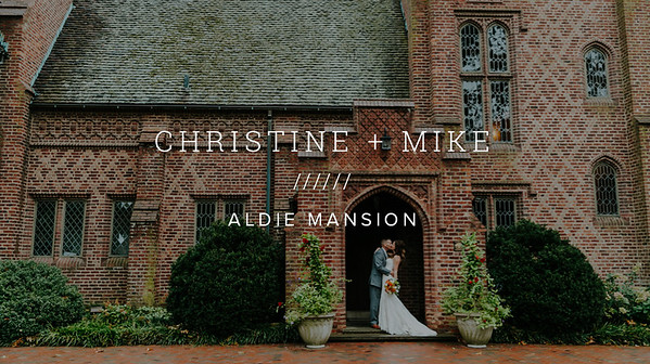 CHRISTINE + MIKE ////// ALDIE MANSION