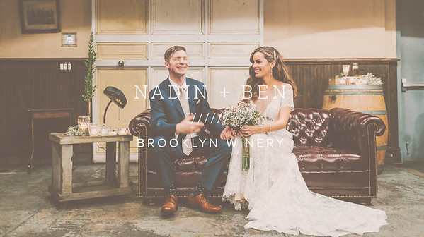 NADIN + BEN ////// BROOKLYN WINERY