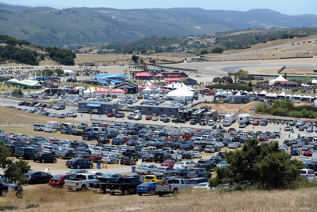. A large crowd at the FIM Superbike World Championship at Mazda Raceway Laguna Seca on Sunday, July 9, 2017.  (Vern Fisher - Monterey Herald)