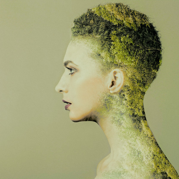 Mother Nature. Abstract female portrait with muliple exposure