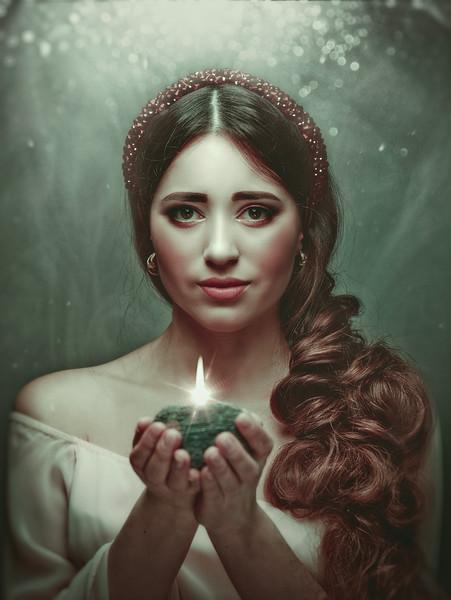 Spiritual female portrait