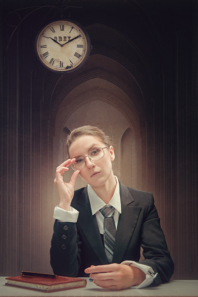 Human Resources. Formal female portrait