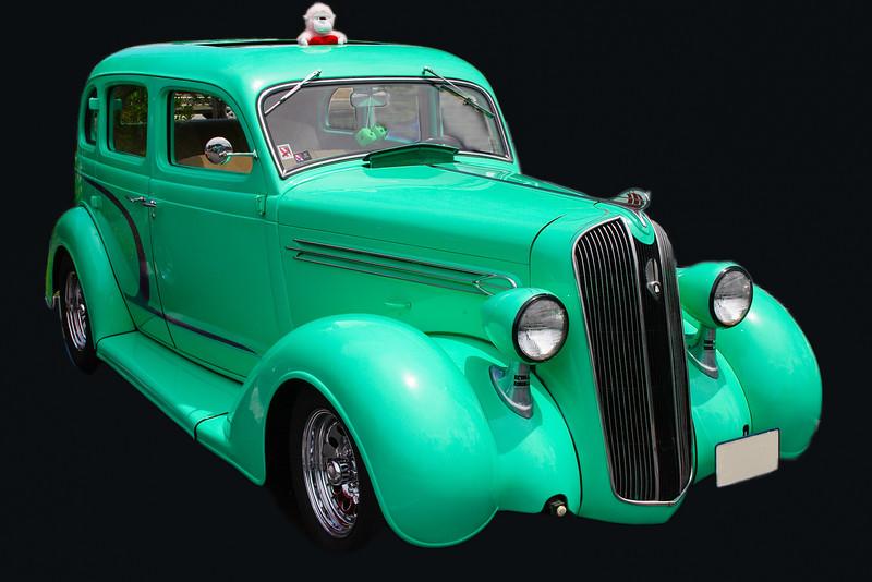 1939 Electric Green Classic car.