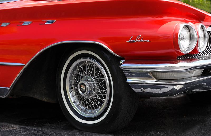 Closeup of 1960 Red buick Lasabre