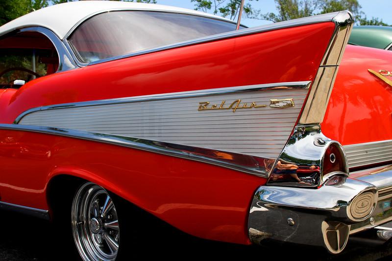 1956 Red Belair fin
