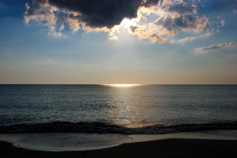 Sunlight reflected on the ocean