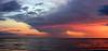 Beautiful red sunset pano